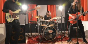 tournage en studio d'enregistrement