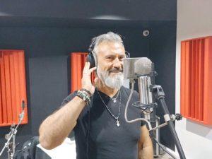 Richard Lesage en studio d'enregistrement